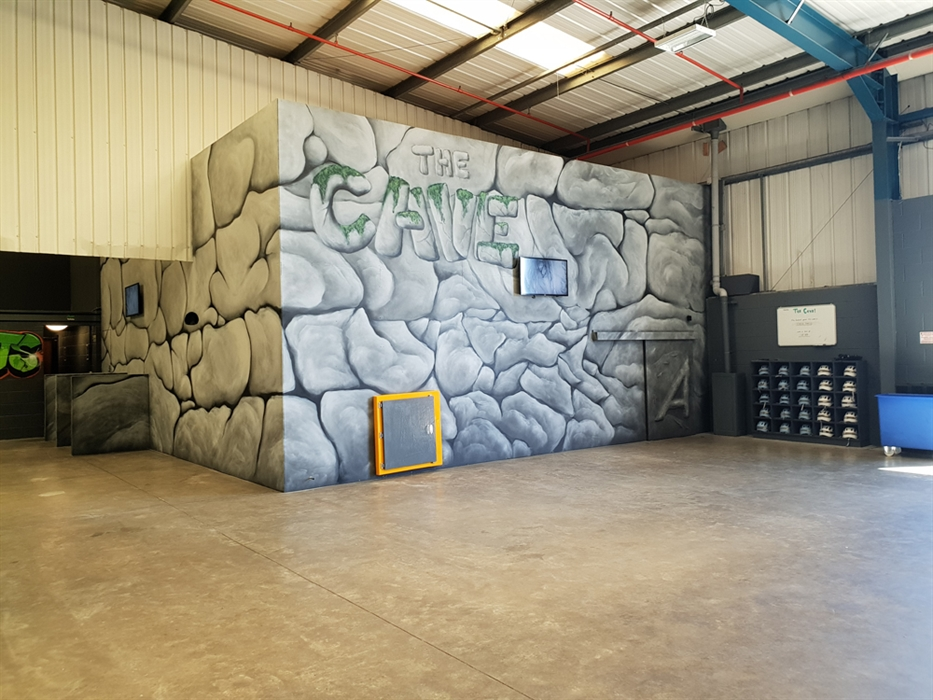 Brave the Cave at Ascent Trampoline Park