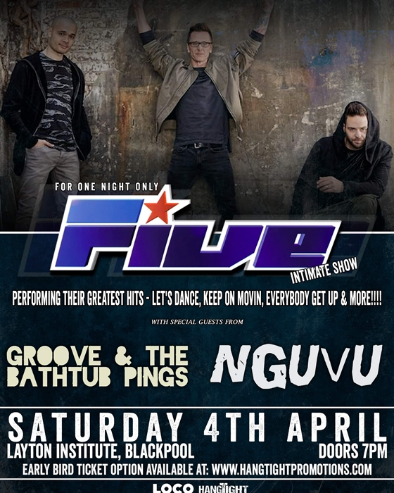 One night only intimate show with 5ive